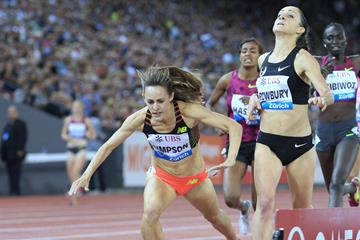 Jenny Simpson snatches dramatic finish line win in 1500m in Zurich (Jean-Pierre Durand)