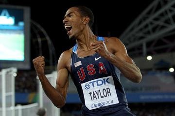 Christian Taylor of the USA celebrates victory in the men's triple jump final  (Getty Images )