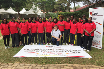 Dr Stephane Bermon at the RDC in Nairobi with the participants of the 'Gender Specific Aspects of Training Female Athletes' seminar (IAAF)