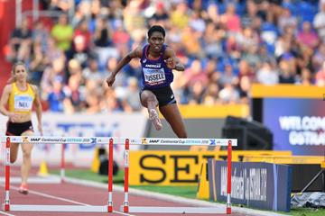 Janieve Russell, Continental Cup 400m hurdles champion (Getty Images )