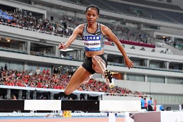 Beatrice Chepkoech in the 3000m steeplechase at the IAAF Diamond League meeting in Shanghai (Errol Anderson)