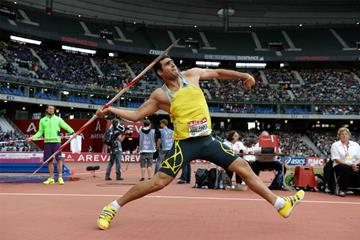 Ihab Abdelrahman El Sayed, winner of the javelin at the IAAF Diamond League meeting in Paris (Jiro Mochizuki)