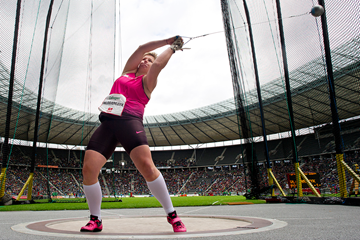 Anita Wlodarczyk in the hammer in Berlin (AFP / Getty Images)