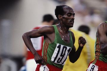 Miruts Yifter in the 10,000m final at the 1980 Olympic Games in Moscow (Getty Images)