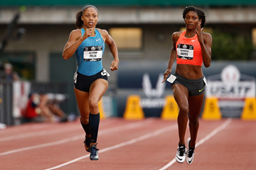 Quanera Hayes and Allyson Felix in action at the US Championships (Getty Images)