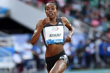 Almaz Ayana peerless in the Rabat 5000m (Kirby Lee)