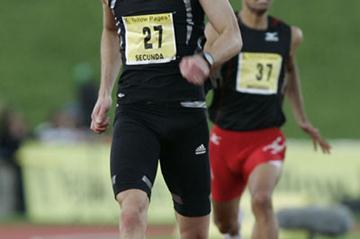 Alwyn Myburgh en route to 400m victory in Secunda (Adrian de Kock)