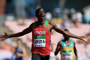 Solomon Lekuta takes 800m gold for Kenya at the IAAF World U20 Championships Tampere 2018 (Getty Images)