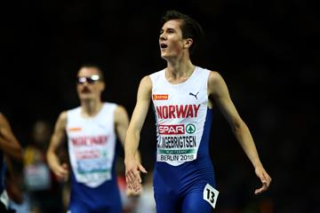 Jakob Ingebrigsten after the 5000m at the European Championships (Getty Images)