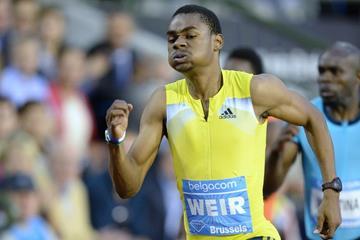 Warren Weir winning the 200m at the 2013 IAAF Diamond League final in Brussels (Jean-Pierre Durand)