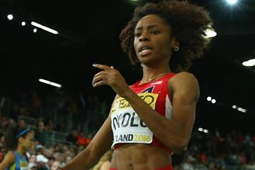 Courtney Okolo in action at the IAAF World Indoor Championships Portland 2016 (Getty Images)