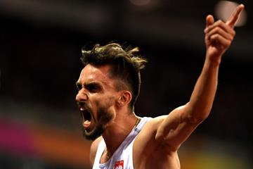 Adam Kszczot after winning his 800m semifinal at the IAAF World Championships London 2017 (Getty Images)