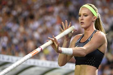 Sandi Morris at the 2016 IAAF Diamond League final in Brussels (Getty Images / AFP)