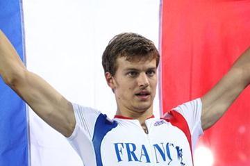 Christophe Lemaitre of France celebrates third place in the men's 200 metres final (Getty Images)