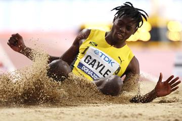 Tajay Gayle at the World Championships in Doha (Getty Images)
