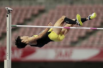 Tomohiro Shinno, winner of the high jump at the Japanese Championships (Getty Images)