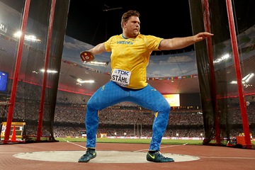 Sweden's Daniel Stahl in the discus at the IAAF World Championships (Getty Images)