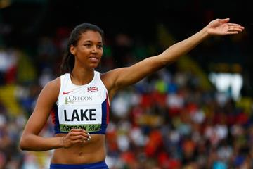 Morgan Lake in the heptathlon high jump at the 2014 IAAF World Junior Championships in Eugene (Getty Images)