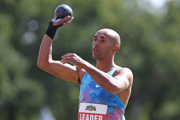 Damian Warner in the decathlon shot put at the Decastar meeting in Talence (Jean-Pierre Durand)