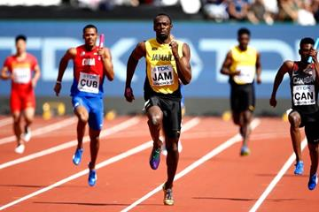 Usain Bolt anchors Jamaica in the 4x100m heats at the IAAF World Championships London 2017 (Getty Images)