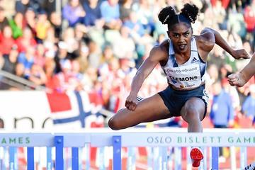 Christina Clemons wins the 100m hurdles at the IAAF Diamond League meeting in Oslo (Deca Text & Bild)