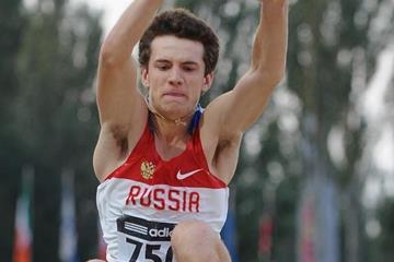 Anatoliy Ryapolov in the boys' Long Jump at the IAAF World Youth Championships 2013 (Getty Images)