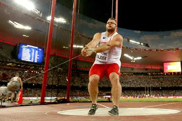Pawel Fajdek in the hammer final at the IAAF World Championships, Beijing 2015 (Getty Images)