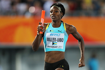 Shaunae Miller-Uibo in action at the IAAF World Relays Bahamas 2017 (Getty Images)