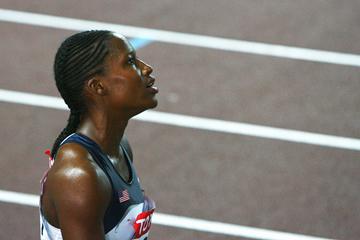 Lauryn Williams after the 100m final at the 2007 IAAF World Championships in Osaka (Getty Images)