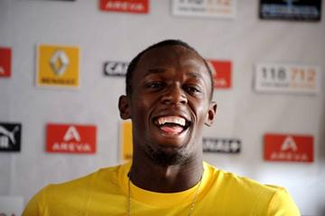 Usain Bolt at the pre-meeting press conference (15 July) for the Meeting Areva, the fourth fixture of the ÅF Golden League 2009 (Fri 17 July) (Jiro Mochizuki (Agence Shot))