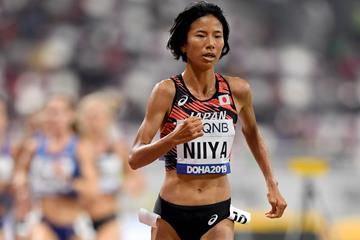 Hitomi Niiya in action in the 10,000m at the World Athletics Championships Doha 2019 (Getty Images)