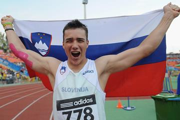 Matija Muhar in the boys' Javelin Throw at the IAAF World Youth Championships 2013 (Getty Images)