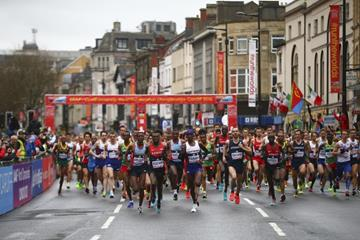 The start of the men's race at the IAAF/Cardiff University World Half Marathon Championships Cardiff 2016 (Getty Images)