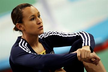 Jessica Ennis of GBR gets ready to compete in the Pentathlon (Getty Images)
