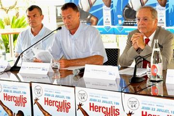 Herculis Press Conference - (left to right): Nick Davies, Jean-Pierre Schoebel and Bernard Fautrier (Herculis 2010)