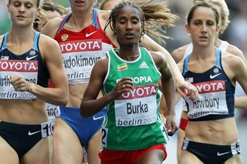 Ethiopia's Gelete Burka in action at the IAAF World Championships (Getty Images)