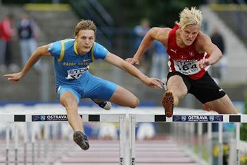 Andreas Martinsen (r) of Denmark in action at the 2007 World Youth Championships in Ostrava (Getty Images)