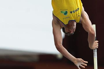 Brazil's Augusto de Oliveira, winner of the Pole Vault (Wagner Carmo/CBAt)