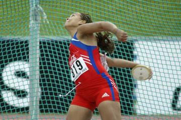 Lisandra Rodriguez of Cuba wins the discus throw (Getty Images)