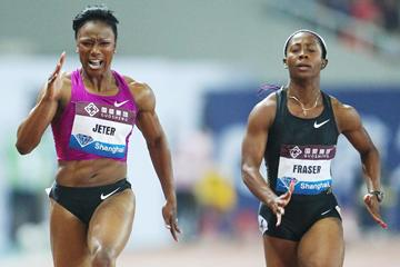 Big win for Carmelita Jeter in Shanghai (Errol Anderson)