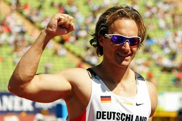 Tom Lobinger (GER) celebrates in Munich (Getty Images / Bongarts)