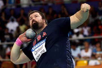 Christian Cantwell of USA on his way to winning the gold medal in the Shot Put final (Getty Images)