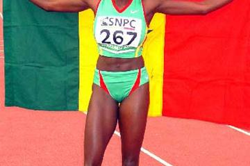 Fatou Bintou Fall of Senegal after her African Championhips 400m win - Brazzaville (Ouma)