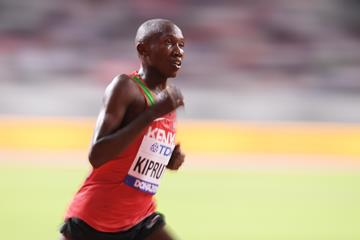 Rhonex Kipruto in the 10,000m at at the IAAF World Championships Doha 2019 (Getty Images)