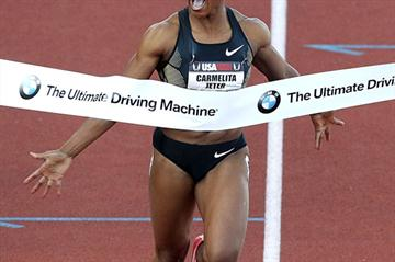 Sizzling (and wind-assisted) 10.74 for Carmelita Jeter at the US championships (Getty Images)
