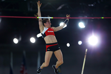 Nicole Buchler in the pole vault at the IAAF World Indoor Championships Portland 2016 (Getty Images)