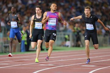 Andre de Grasse winning the 200m at the IAAF Diamond League meeting in Rome (Jean Pierre Durand)