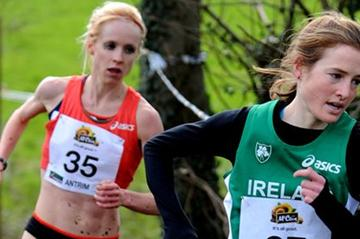 Fionnuala Britton lead Gemma Steel in Antrim (Mark Shearman)