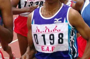 Berhane Hirpassa - winner of the women's 1500m at 2006 Ethiopian Champs (Nahom Tesfaye)