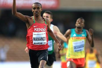 George Manangoi wins the 1500m at the IAAF World U18 Championships Nairobi 2017 (Getty Images)